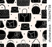 cute fashion seamless pattern... | Shutterstock .eps vector #736096738