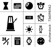 time icon. set of 13 filled... | Shutterstock .eps vector #736098562