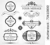 set of design elements | Shutterstock .eps vector #73610800