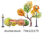 Watercolor Hand Drawn Autumn...