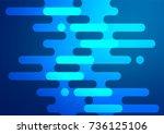 light blue vector indian curved ...   Shutterstock .eps vector #736125106