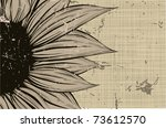 sunflower leaf card | Shutterstock .eps vector #73612570