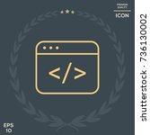 code editor icon | Shutterstock .eps vector #736130002