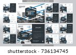 desk calendar 2018 template  ... | Shutterstock .eps vector #736134745