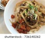 japanese beef rice | Shutterstock . vector #736140262