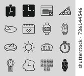 time icons set. set of 16 time... | Shutterstock .eps vector #736144546