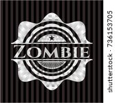 zombie silver emblem or badge | Shutterstock .eps vector #736153705