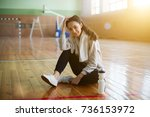refreshing after workout.... | Shutterstock . vector #736153972