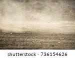 dirt fly after motocross... | Shutterstock . vector #736154626