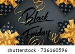 black friday. banner for winter ... | Shutterstock .eps vector #736160596
