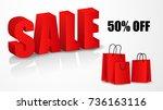 super sale bag banner design... | Shutterstock .eps vector #736163116