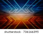2d illustration technology... | Shutterstock . vector #736166395