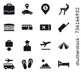 16 vector icon set   portfolio  ... | Shutterstock .eps vector #736166932