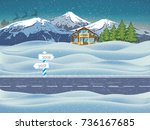 happy new year and merry... | Shutterstock .eps vector #736167685