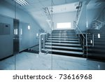 glass doors with a kind on a... | Shutterstock . vector #73616968