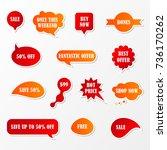 vector stickers  speech bubbles ... | Shutterstock .eps vector #736170262