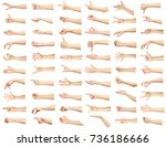 multiple images set of female... | Shutterstock . vector #736186666