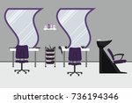 interior of a hairdressing... | Shutterstock .eps vector #736194346