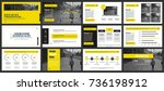 business presentation slides... | Shutterstock .eps vector #736198912
