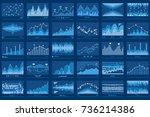 business data report financial... | Shutterstock . vector #736214386