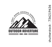 outdoor adventure   vector logo ... | Shutterstock .eps vector #736219636