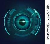 abstract futuristic digital... | Shutterstock .eps vector #736227586