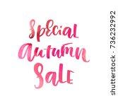 special autumn sale   vector... | Shutterstock .eps vector #736232992