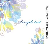 vector floral background | Shutterstock .eps vector #73623742