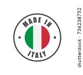 """""""made in italy"""" badge with... 