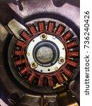 Small photo of alternator magneto with crankcase engine oil