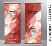 roll up business brochure flyer ... | Shutterstock .eps vector #736245682