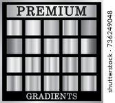 silver gradient backgrounds set.... | Shutterstock .eps vector #736249048