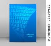modern geometrical blue... | Shutterstock .eps vector #736249612