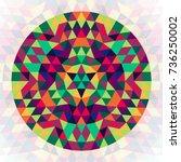 round geometric triangle...   Shutterstock .eps vector #736250002