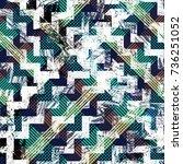seamless pattern tartan design. ... | Shutterstock . vector #736251052
