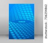 modern geometrical blue... | Shutterstock .eps vector #736254862