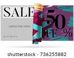 sale advertisement banner on... | Shutterstock .eps vector #736255882