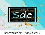 gold shiny glitter sale... | Shutterstock .eps vector #736255912