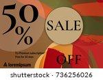 sale advertisement banner with... | Shutterstock .eps vector #736256026