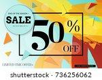 sale advertisement banner with... | Shutterstock .eps vector #736256062