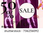 sale advertisement banner with... | Shutterstock .eps vector #736256092