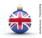 3d rendering christmas ball...   Shutterstock . vector #736262836