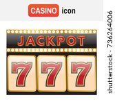 spins 777. slot machine symbols ... | Shutterstock .eps vector #736264006