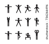 icon people  vector | Shutterstock .eps vector #736266496