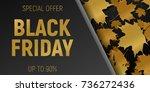 black friday sale web... | Shutterstock .eps vector #736272436