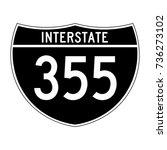 interstate highway 355 road... | Shutterstock .eps vector #736273102