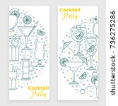cocktail banner with martini ... | Shutterstock .eps vector #736275286