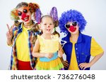 a portrait of a clown | Shutterstock . vector #736276048