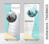 business roll up design... | Shutterstock .eps vector #736288612