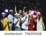 party people. group of young... | Shutterstock . vector #736292428